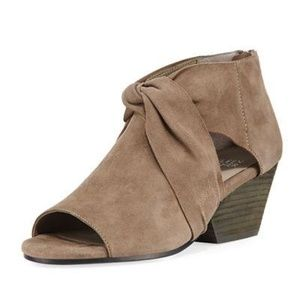 NEW Eileen Fisher Anise Suede Open Toe Booties 9.5